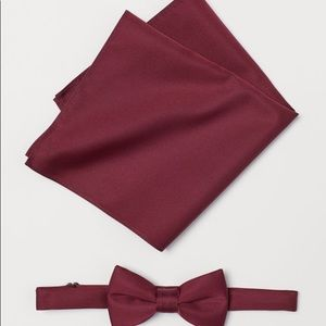 Other - Burgundy Pre-tied with matching handkerchief